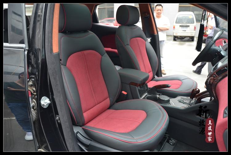 现代ix35 内饰改装 包真皮座椅座套 仪表台包覆 麂皮绒顶棚 杭州地区